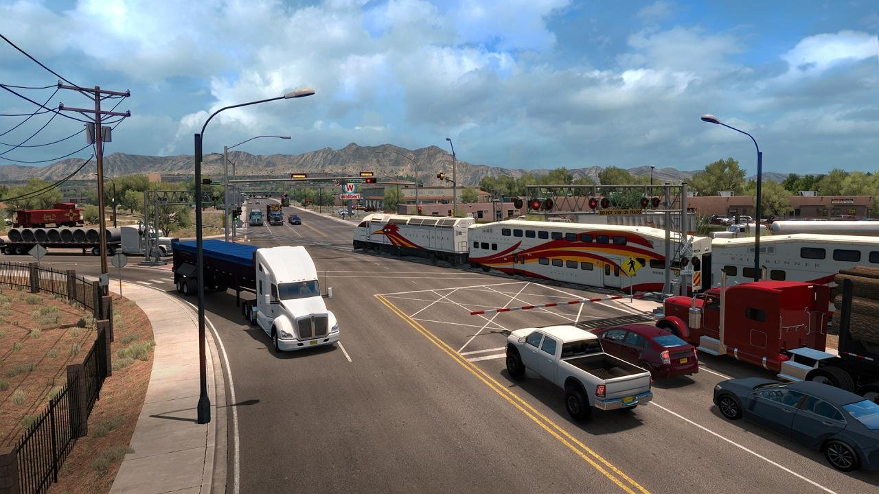 American Truck Simulator gameplay screenshot -  truck driving on the road